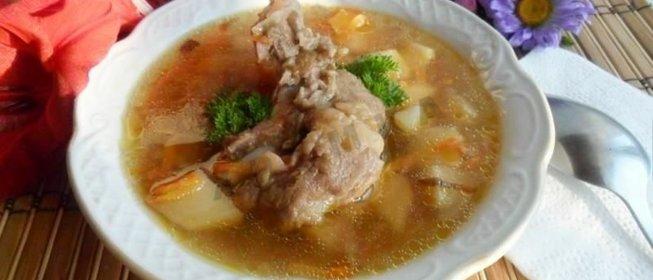 Рецепт суп на ребрышках рецепт