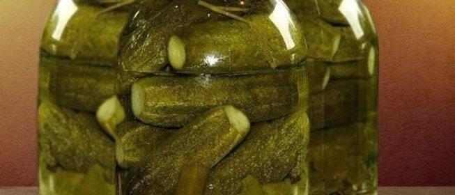 С уксусом соленые огурцы на зиму хрустящие