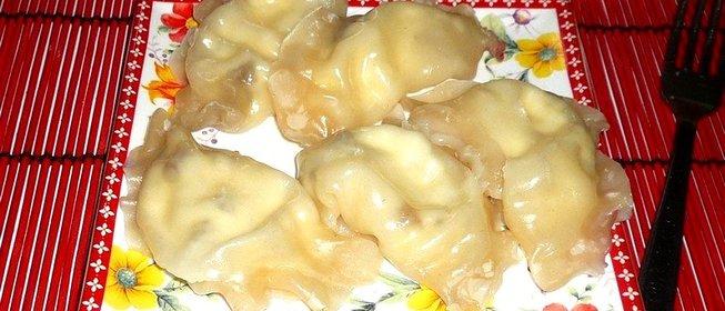 вареники мясом пошаговый рецепт фото