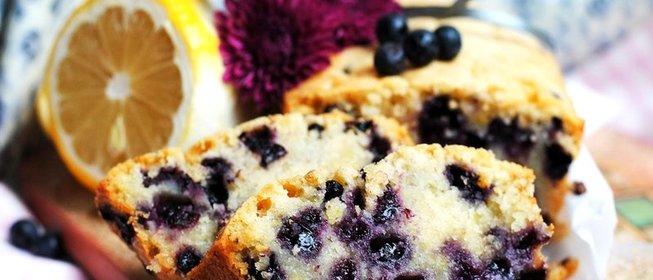 Быстрый пирог с черникой рецепт с фото