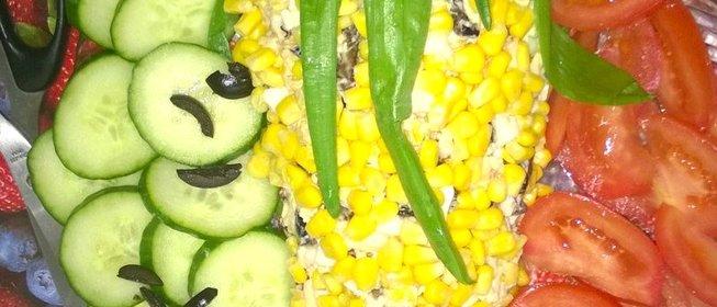 Салат в домашних условиях с кукурузой 389