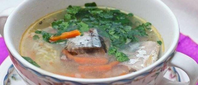 Суп из сайры пошагово