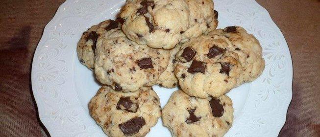 Печенье с шоколадом рецепт пошагово в
