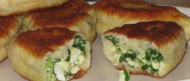 Пирожки с луком яйцом в духовке пошаговый рецепт