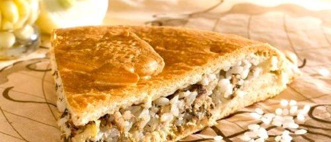 Рыбный с рисом пирог из дрожжевого теста рецепт из консервы