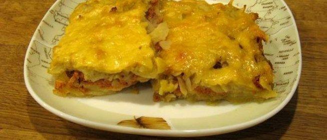Вкусная запеканка из картофеля с фаршем
