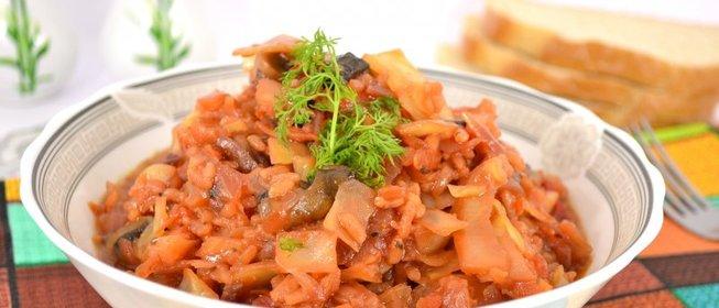 Овощное рагу с рисом рецепт с фото в мультиварке