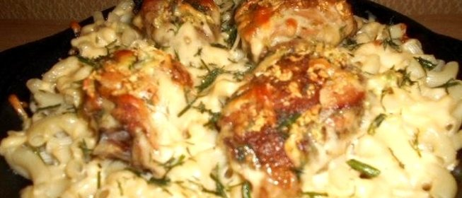 Вкусные блюда в духовке с макаронамиы с фото