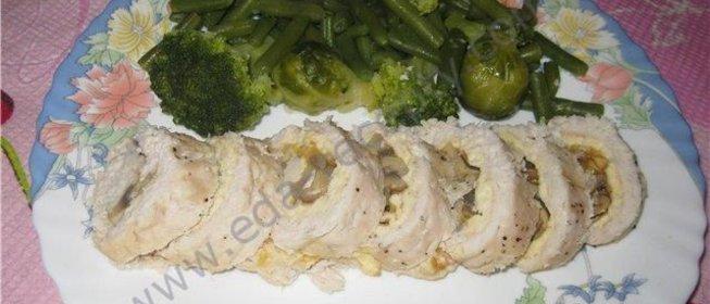 Рулет из курицы желатин рецепт с пошагово