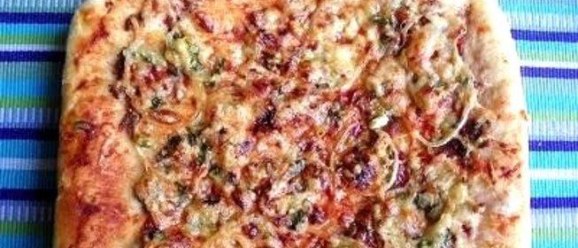Пицца с фаршем пошаговый фото рецепт