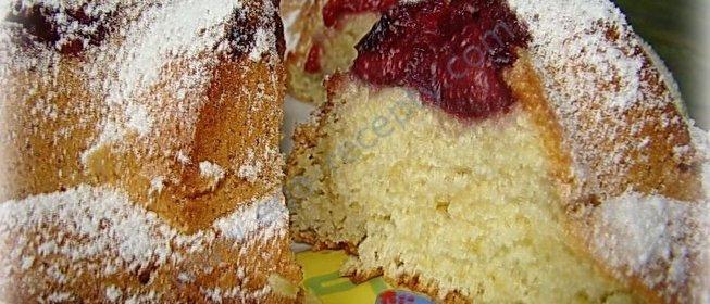 Бисквит с вишней рецепт с фото пошагово