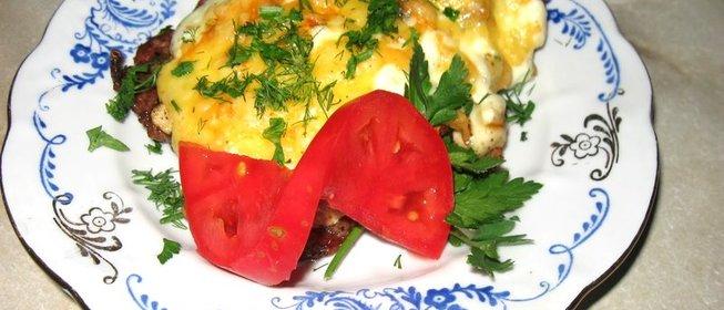 Мясо по-французски рецепт пошагово с картофелем на сковороде рецепт