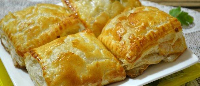Пирог с капустой из бездрожжевого слоеное теста рецепт пошагово
