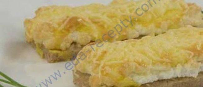 Бутерброды с колбасой сыром чесноком