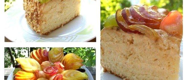 Торт яблочный пошаговый рецепт с фото