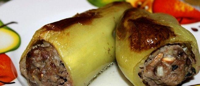 Фаршированный перец в духовке пошаговое фото