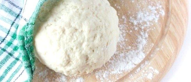 Тесто для пиццы быстрое без дрожжей с пошагово