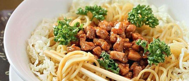 Рецепты китайской лапши со свининой