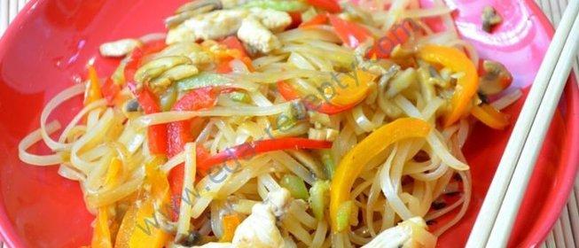 Рисовая лапша с курицей рецепты фото