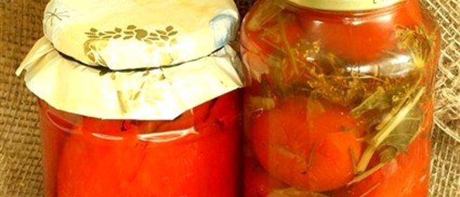 Маринованные помидоры простой рецепт фото