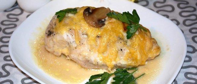 Мясо с грибами в духовке рецепт пошагово