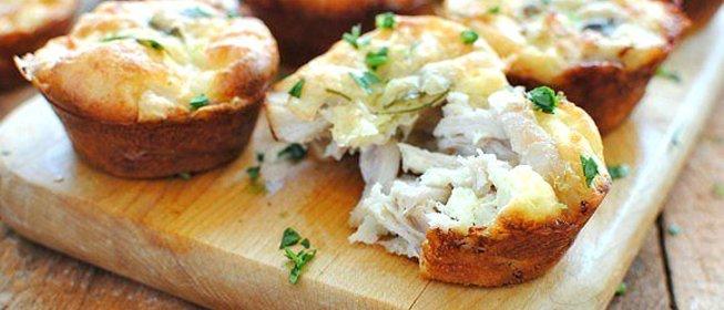Рецепт маффины с сыром и курицей пошагово