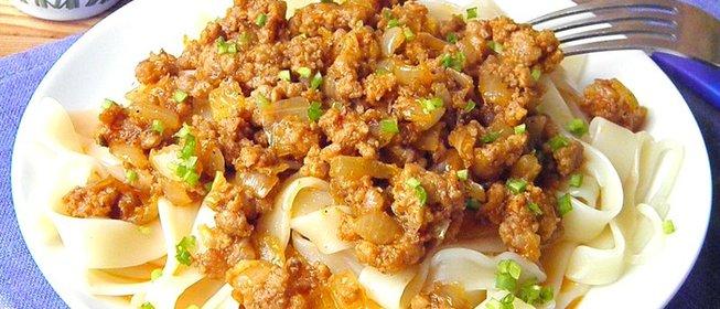 Паста с фаршем рецепты простые и вкусные