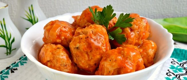 Куриные тефтели в томатном соусе с пошагово