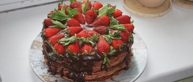 Торт с клубникой рецепт пошагово с фото