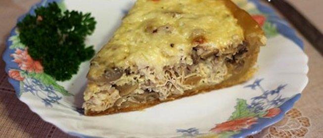 Пироги в мультиварке рецепты с с грибами