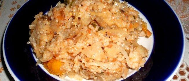 Капуста тушеная с фаршем с рисом в мультиварке рецепт с фото