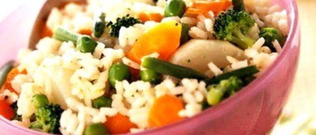Рецепты риса с овощами пошагово