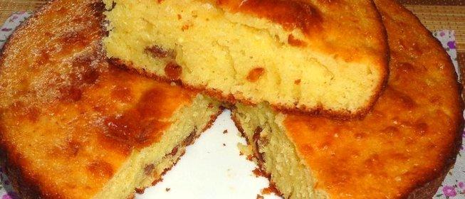 Пирог с изюмом рецепт с фото пошагово