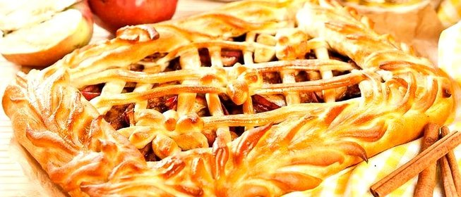 Рецепт пирога открытого с яблоками с