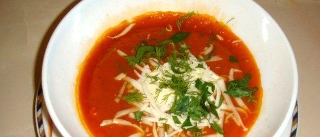 Томатный суп-пюре в мультиварке рецепт
