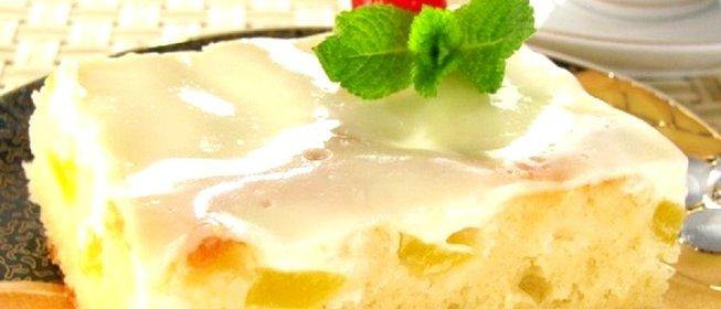 Пирог персиковый рецепты с