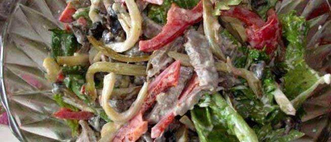 Салат мясо с перцем болгарским рецепты