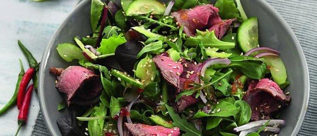 Пошаговые рецепты салатов из говядины