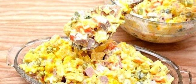 Рецепт салата из вареных яиц быстро и просто