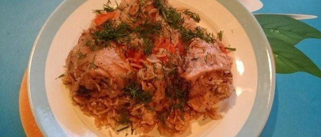 Курица с рисом пошагово