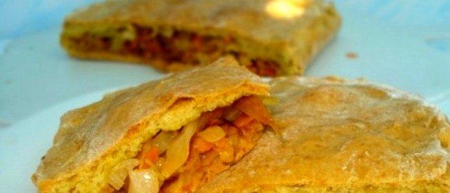 Пирог с тушеной капустой рецепт с фото пошагово в духовке