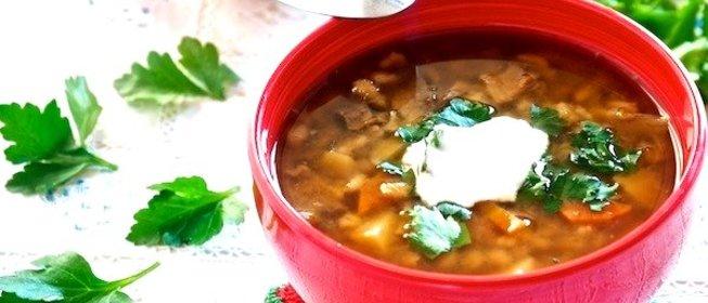 Суп грибной из шампиньонов с перловкой рецепт с пошагово в