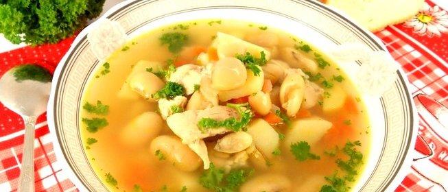 Суп с фасолью с курицей рецепт с пошагово