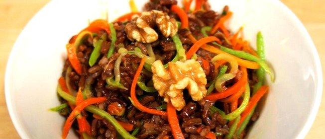 Блюда из красного риса рецепты