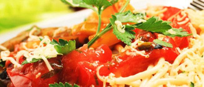Итальянская паста с овощами рецепт